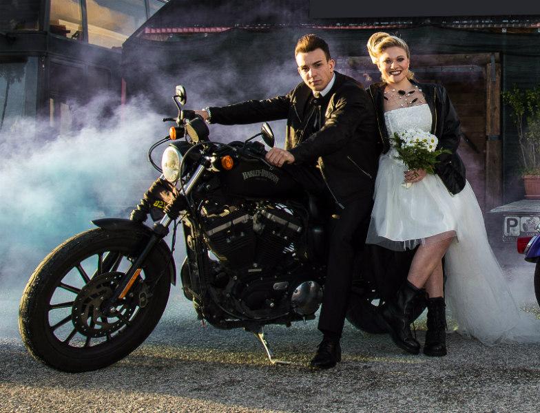 Matrimonio Tema Moto : Romanotizie wedding on the road se e in moto ti sposo